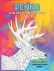 Libri da colorare per adulti - Disegni Anti stress Animali - Uccelli e Animali - Renna Cover Image