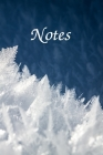 Notes: Beautiful Notebook With Tiny Ice And Snowflakes 6x9 Cover Image