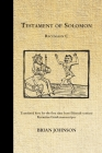 The Testament of Solomon: Recension C Cover Image