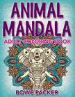 Animal Mandala: Adult Coloring Book Cover Image