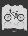 BMX: cahier de note ligné noir et blanc Cover Image
