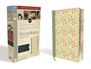 NIV, Cultural Backgrounds Study Bible, Large Print, Imitation Leather, Green, Red Letter Edition: Bringing to Life the Ancient World of Scripture Cover Image