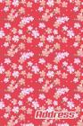 Address.: Address Book. (Vol. B48) Nature Pink Blossom Design. Glossy Cover, Contract Large Print, Font, 6