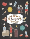 Recipes Notebook: Personal Recipe Notebooks To Write In Perfect For Girl Design With Kitchen Utensils And Appliances Cover Image