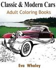 Classic & Modern Cars Adult Coloring Book: Design Coloring Book Cover Image