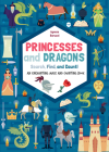Princesses and Dragons: An Enchanting Maze and Counting Book Cover Image