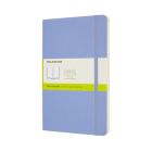 Moleskine Classic  Notebook, Large, Plain, Hydrangea Blue, Soft Cover (5 x 8.25) Cover Image