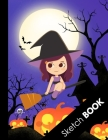 Sketch Book: Awesome Halloween Gifts for Girls and Women: Large Sketchbook For Sketching, Drawing And Creative Doodling, Cute Purpl Cover Image