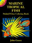 Marine Tropical Fish Stained Glass Coloring Book (Dover Stained Glass Coloring Book) Cover Image