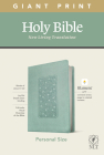 NLT Personal Size Giant Print Bible, Filament Enabled Edition (Red Letter, Leatherlike, Floral Frame Teal) Cover Image