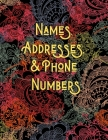 Names, Addresses, & Phone Numbers: Address Book for Men, Women With Alphabet Index (Large Tabbed Address Book). Cover Image