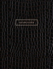 Graph Paper: Executive Style Composition Notebook - Black Alligator Skin Leather Style, Softcover - 8.5 x 11 - 100 pages (Office Es Cover Image