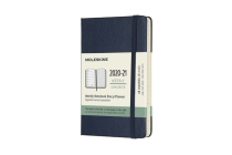 Moleskine 2020-21 Weekly Planner, 18M, Pocket, Sapphire Blue, Hard Cover (3 x 5.5) Cover Image