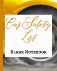 Car Safety List - Blank Notebook - Write It Down - Pastel Rose Gold Pink - Abstract Modern Contemporary Unique Art Cover Image