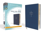 Niv, Bible for Teens, Thinline Edition, Leathersoft, Blue, Red Letter Edition, Comfort Print Cover Image