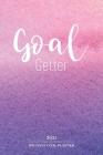Goal Getter 100 Days Goal Planner 2021: 100 Day Gratitude Journal & Goal Planner-2021 Goal Setting Planner Watercolor Cover Design-Goal Getter Workboo Cover Image