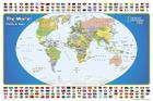 National Geographic: The World for Kids in Gift Box Wall Map (36 X 24 Inches) (National Geographic Reference Map) Cover Image
