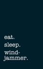 eat. sleep. windjammer. - Lined Notebook: Writing Journal Cover Image
