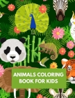 Animals Coloring Book for Kids: Abc Alphabet Animal Coloring Book for Kids Cover Image