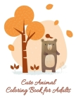 Cute Animal Coloring Book for Adults: Cute Christmas Animals and Funny Activity for Kids Cover Image