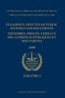 Pleadings, Minutes of Public Sittings and Documents / Mémoires, Procès-Verbaux Des Audiences Publiques Et Documents, Volume 3 (1999) Cover Image