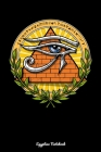 Egyptian Notebook: Eye Of Horus Notebook Cover Image