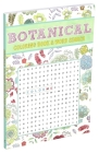 Botanical Coloring Book & Word Search Cover Image