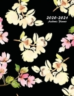 2020-2021 Academic Planner: Large Weekly and Monthly Planner with Inspirational Quotes and Floral Cover Volume 2 (July 2020 - June 2021) Cover Image