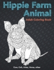 Hippie Farm Animal - Adult Coloring Book - Cow, Сolt, Aries, Horse, other Cover Image