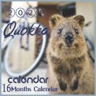 2021 Quokka Calendar: short-tailed scrub wallaby Australian Animal 8.5x8.5 Inch Wall 2021 Calendar Cover Image