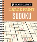 Brain Games - Large Print Sudoku (Orange) Cover Image