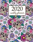 2020 Weekly Planner: Calendar Schedule Organizer Appointment Journal Notebook and Action day With Inspirational Quotes Festive background w Cover Image