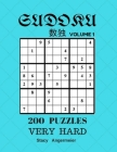 Sudoku 200 Puzzles Volume 1 Very Hard: 200 Sudoku Puzzles (Very Hard Level) Cover Image