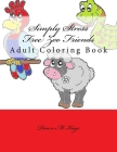 Simply Stress Free Zoo Friends: Adult Coloring Book Cover Image