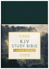 KJV Study Bible - Large Print [Gold Evergreen] Cover Image