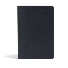 CSB Giant Print Reference Bible, Black LeatherTouch, Indexed Cover Image