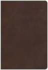 NKJV Super Giant Print Reference Bible, Brown Genuine Leather, Indexed Cover Image