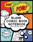 Blank Comic Book Notebook: Create Your Own Comic Book Strip, Variety of Templates for Comic Book Drawing, (Super Hero Comics)-[professional Bindi Cover Image