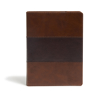 KJV Study Bible, Full-Color, Saddle Brown LeatherTouch, Indexed: Red Letter, Study Notes, Articles, Illustrations, Ribbon Marker, Easy to read Bible font Cover Image