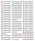 The Information: A History, a Theory, a Flood Cover Image
