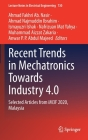 Recent Trends in Mechatronics Towards Industry 4.0: Selected Articles from Im3f 2020, Malaysia (Lecture Notes in Electrical Engineering #730) Cover Image