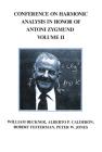 Conference Harmonic Analysis, Volume II (Wadsworth Mathematics Series) Cover Image
