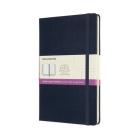 Moleskine Notebook, Ruled-Plain, Sapphire Blue, Large, Hard Cover (5 x 8.25) Cover Image