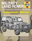 Military Land Rover 1948 Onwards (Series I-III, Defender, '101', Wolf, etc): An insight into the history, development, production and role of the British Army's light four-wheel-drive vehicle (Enthusiasts' Manual) Cover Image