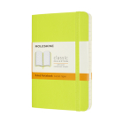 Moleskine Classic Notebook, Pocket, Ruled, Lemon Green, Soft Cover (3.5 X 5.5) Cover Image
