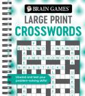 Brain Games - Large Print Crosswords (Swirls) Cover Image