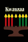 Kwanzaa: Black Cover Kinara Candle Color Page Interior Guided Prompt Lined Journal Affirmations Thoughts Gratitude New Year Vis Cover Image