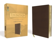 Kjv, Thompson Chain-Reference Bible, Large Print, Leathersoft, Brown, Red Letter Cover Image
