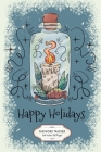 Happy Holidays: Cute Jar With Christmas Candle Password Tracker Notebook 6x9 Inches 100 Pages Leaves And Berries Cover Image