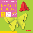 Origami Paper - Bright Colors - 6 - 49 Sheets: Tuttle Origami Paper: High-Quality Origami Sheets Printed with 6 Different Colors: Instructions for Ori Cover Image